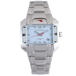 Diadora Woman's Light Blue Dial Stainless Steel Date Watch