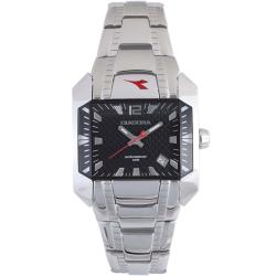 Diadora Woman's Black Dial Stainless Steel Date Watch