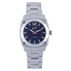Chronotech Men's Blue Dial Aluminum Quartz Watch