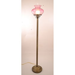 Hurricane With Rhombus Pink Glass Floor Lamp