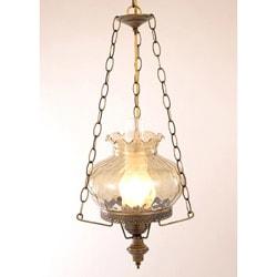 Hurricane Swag Rhombus Green Glass Ceiling Lamp