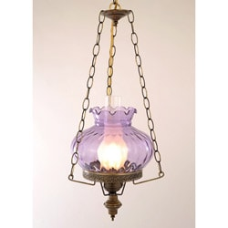 Hurricane Swag Rhombus Violet Glass Ceiling Lamp