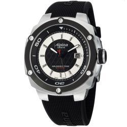 Alpina Men's 'Adventure' Black Dial Black Rubber Strap Watch