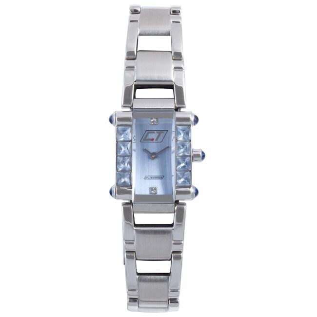 Chronotech Women's Light Blue Dial Stainless Steel Crystal Quartz Watch