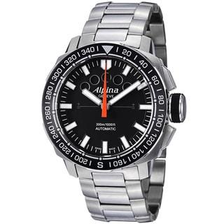 Alpina Men's AL-880LB4V6B 'Adventure Extreme Sailing' Black Dial Steel Watch