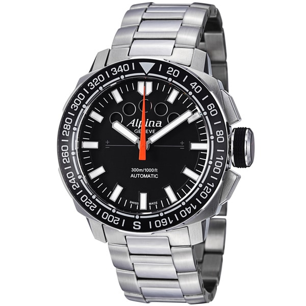 Alpina Men's AL-880LB4V6B 'Adventure Extreme Sailing' Black Dial Steel Watch