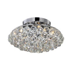 Liata Chrome and Crystal Ball Flush Mount Chandelier