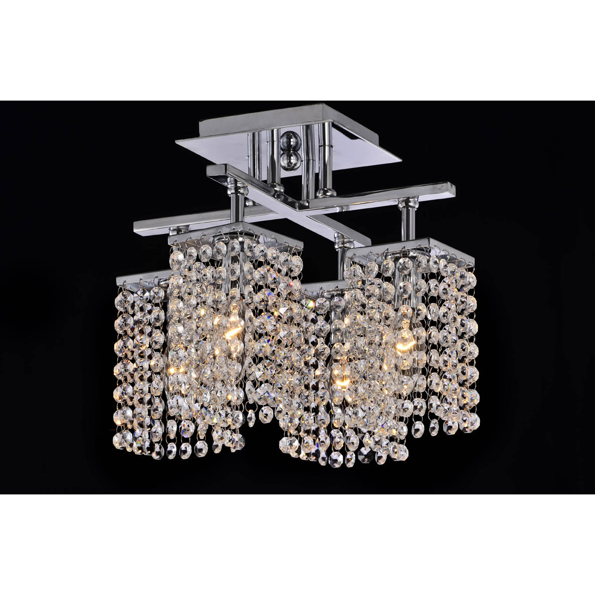 4 light chrome and crystal ceiling chandelier 14339931 shopping big - Ceiling crystal chandelier ...