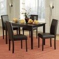 TRIBECCA HOME Elgin Rich Espresso Upholstered Casual 5-piece Dining Set