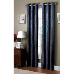 VCNY Jericho Crushed Grommet Top 84-inch Curtain Panel