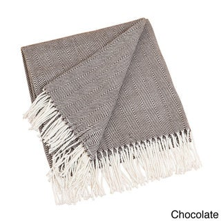 Saro Acrylic Herringbone Throw