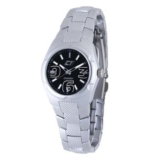 Chronotech Women's Aluminum Black Dial Quartz Watch