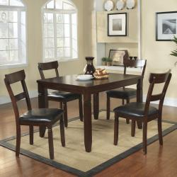 Pottery Espresso Brown High Back Casual 5-piece Dining Set