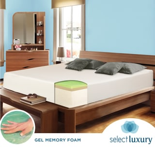 Select Luxury Swirl Gel Memory Foam 14-inch Twin-Size Medium Firm Mattress