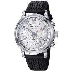 Chopard Men's 168511-3015 RBK 'Miglia' Silver Dial Black Rubber Strap Automatic Watch