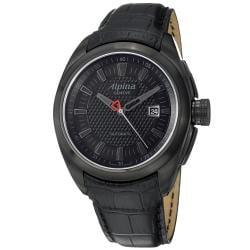 Alpina Men's AL-525B4FBRC6 'Club' Black Dial Black Leather Strap Automatic Watch