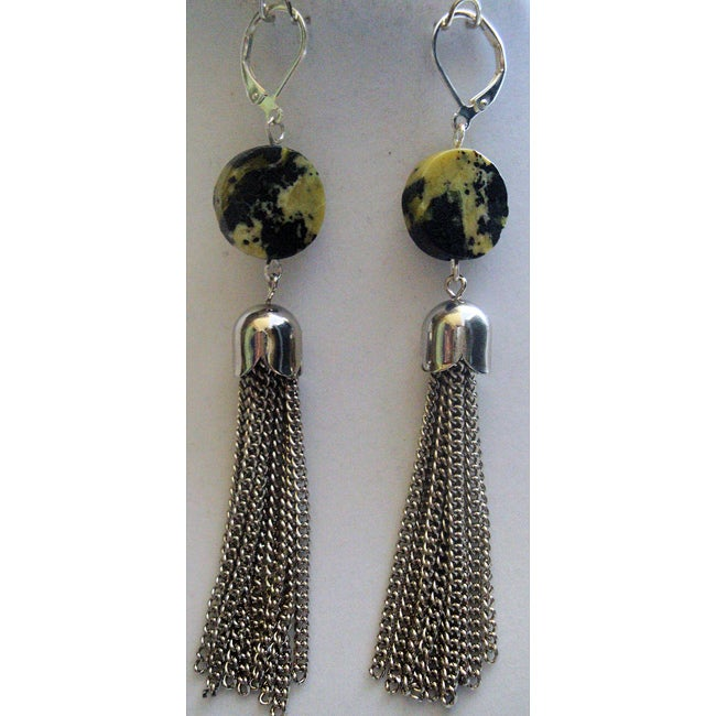 Natural Yellow Turquoise Earrings