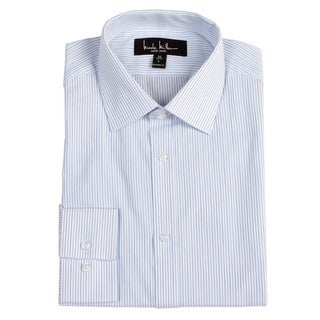 Nicole Miller Men's Blue Stripe Dress Shirt