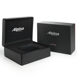 Alpina Men's 'Racing' Black Dial Leather Strap Automatic Watch