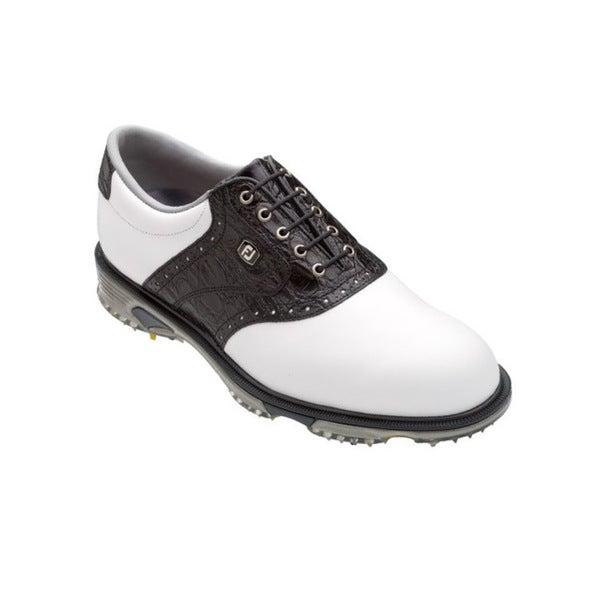 Footjoy Men's DryJoys Tour White/ Black Golf Shoes