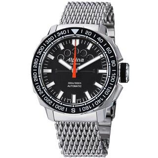 Alpina Men's AL-880LB4V6B2 'Adventure' Black Dial Stainless Steel Automatic Watch