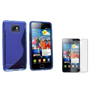 Dark Blue S Shape TPU Case/ Protector for Samsung Galaxy S II i9100