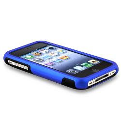 Blue and Black Case/ Screen Protector Set for Apple iPhone 3G/ 3GS