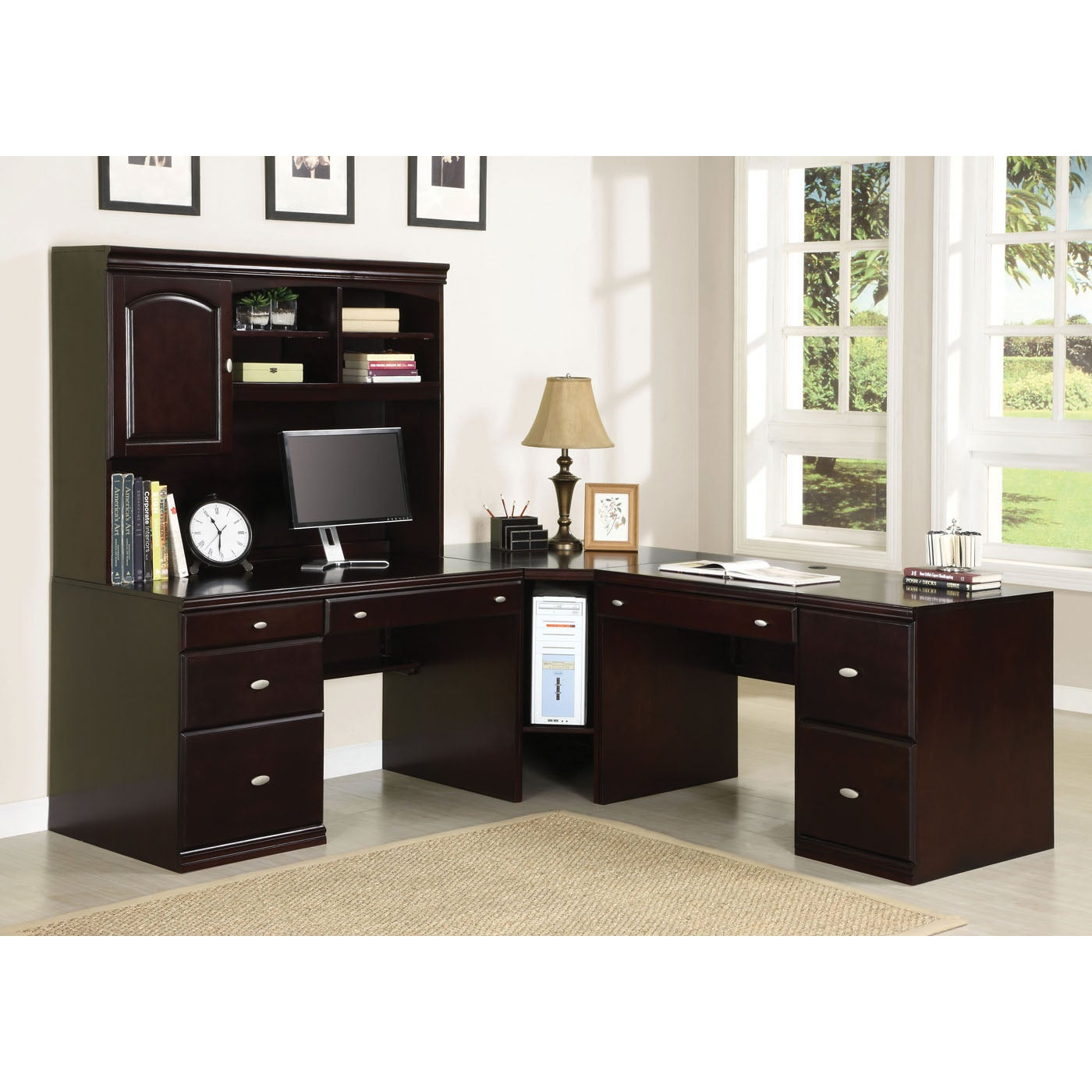 Cape Espresso Wood Office Desk