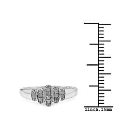 Malaika 14k Gold over Silver 1/10ct TDW Diamond Ring (I-J, I2-I3)