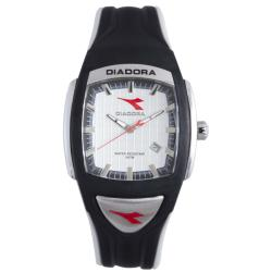 Diadora Men's Black/ Gray Rubber Date Watch