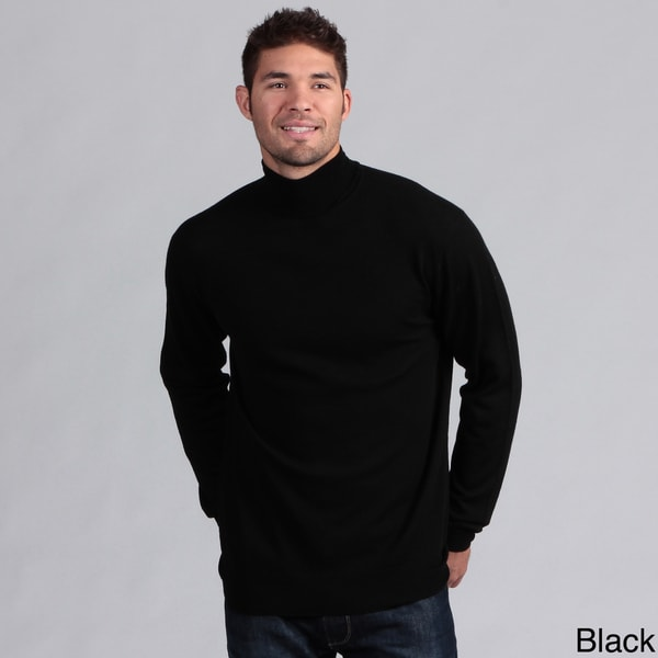 Poeta Moda Men's Wool Turtleneck Sweater