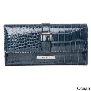 Nine West Small Crackle Checkbook Wallet