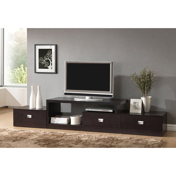 Marconi Brown Asymmetrical Modern TV Stand