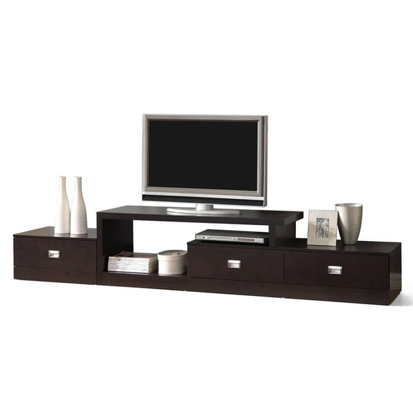 Marconi brown asymmetrical modern tv stand 14341312 overstock