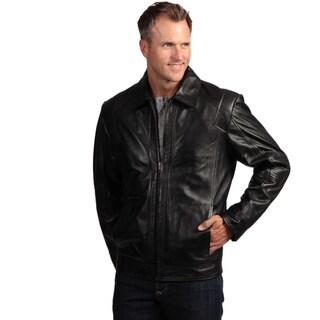 Izod Men's Lambskin Leather Moto Jacket