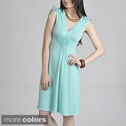 24/7 Comfort Apparel Women's Smocked Diamond Dress
