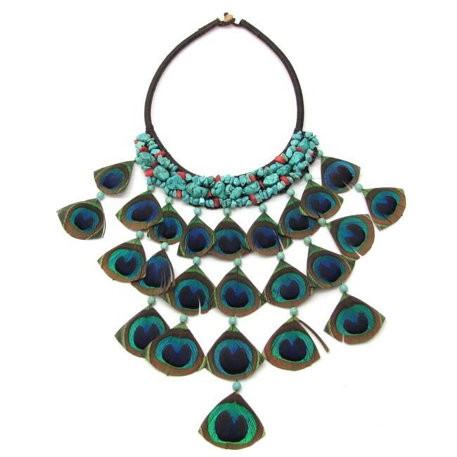 Timeless Harmony Peacock Cascades Necklace (Thailand)