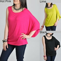 24/7 Comfort Apparel Women's Asymmetrical Top