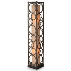 Decorative Tan Transitional Bethany Round Table Lamp