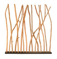Decorative Tan Contemporary Teak Wood Divider