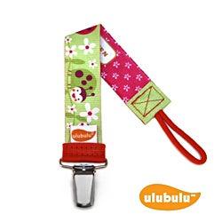 Ulubulu Personalized Pacifier Clip in Lady Bug