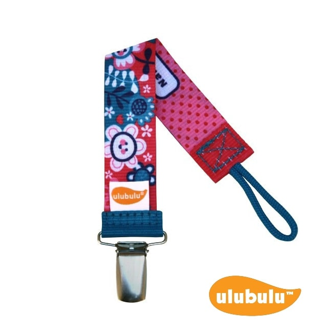 Ulubulu Personalized Pacifier Clip in Bloom