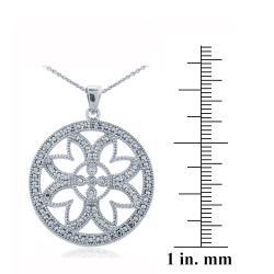 DB Designs Silvertone Diamond Accent Station Medallion Necklace