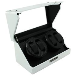 Steinhausen 4-mode White Lacquer Coated Wood Quad Watch Winder