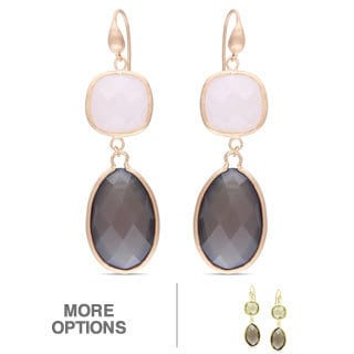 Miadora Goldtone 73ct TGW Gemstone Dangle Earrings