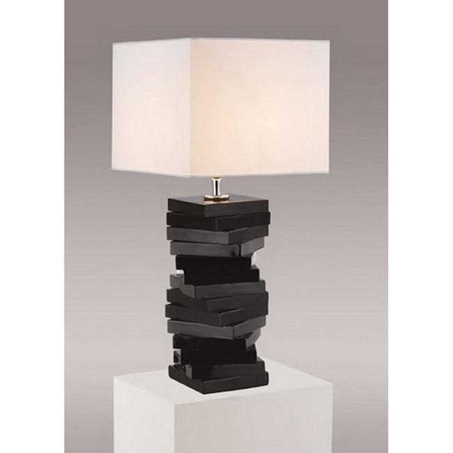 Gallery contemporary modern black table lamp 14341540 overstock com shopping great deals