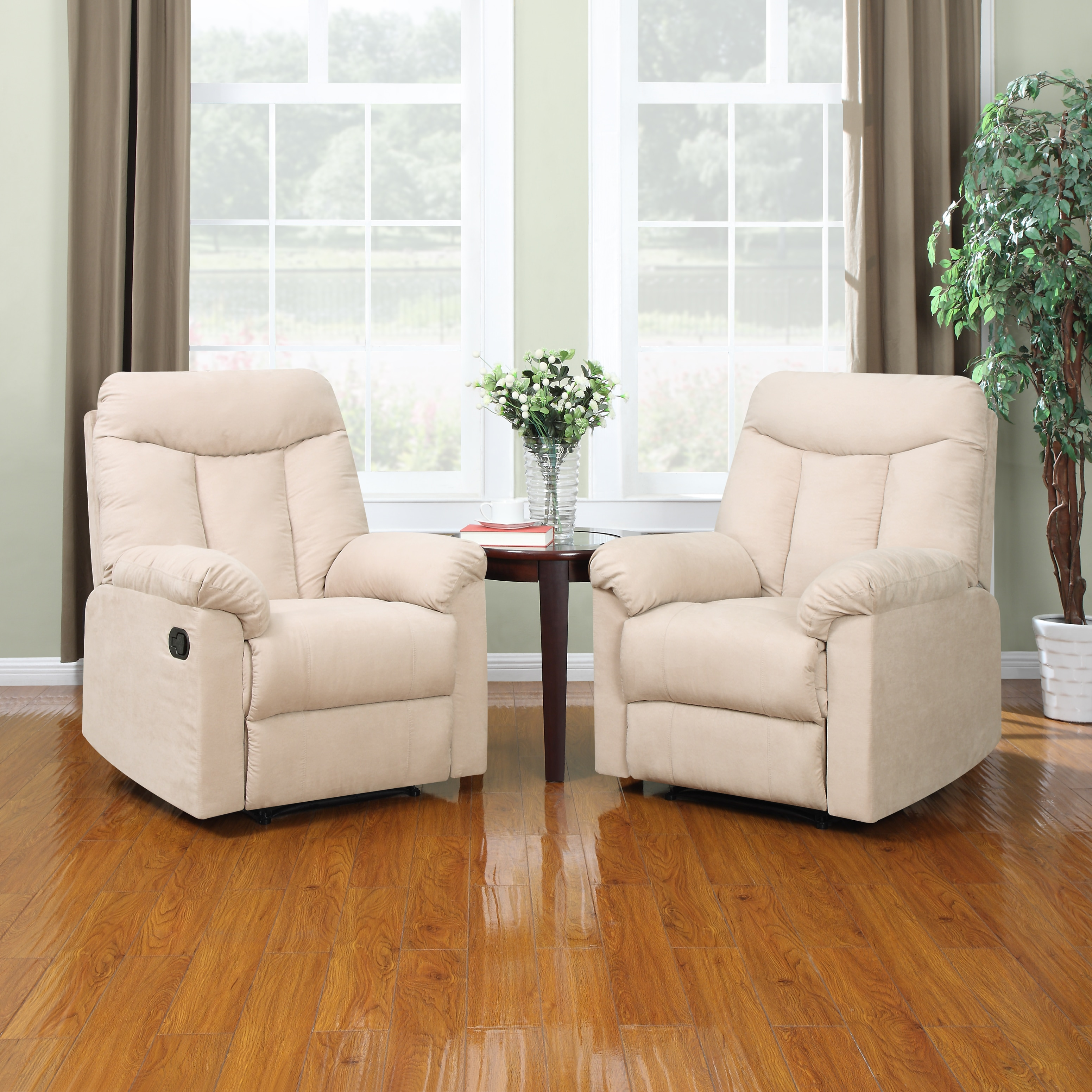 Portfolio ProLounger Wall Hugger Khaki Microfiber Recliners (Set of 2) at Sears.com