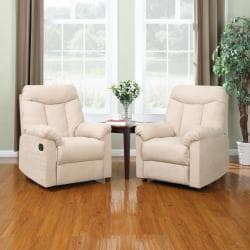 ProLounger Wall Hugger Khaki Microfiber Recliners (Set of 2)