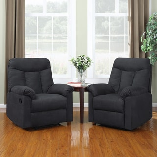 ProLounger Wall Hugger Gray Microfiber Recliners (Set of 2)