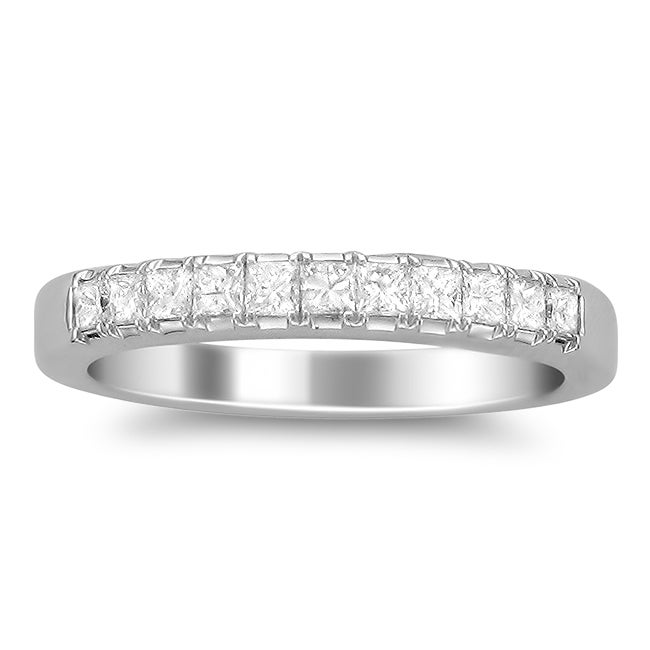 Montebello 14k White Gold Women's 1/2ct TDW Diamond Wedding Band (G-H, SI2)